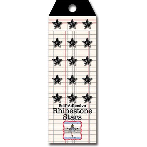 Jenni Bowlin Studio - Self Adhesive Rhinestones - Stars - Black