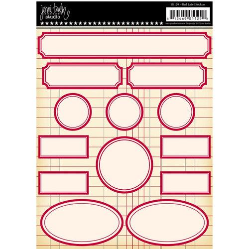 Jenni Bowlin Studio - Label Stickers - Red, CLEARANCE