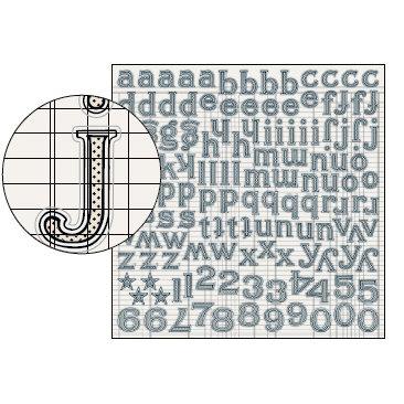 Jenni Bowlin Studio - Large Alphabet Stickers - Black Tiny Dot