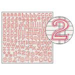 Jenni Bowlin Studio - Large Alphabet Stickers - Red Trim