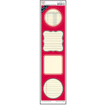 Jenni Bowlin Studio - Label Strip Stickers - Red, CLEARANCE