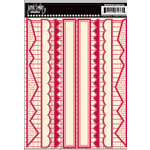 Jenni Bowlin Studio - Cardstock Stickers - Red Border