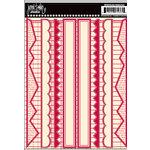 Jenni Bowlin Studio - Cardstock Stickers - Red Border