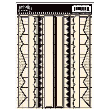Jenni Bowlin Studio - Cardstock Stickers - Black Border