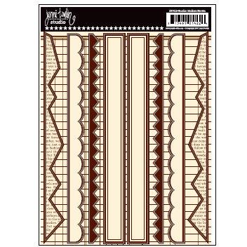 Jenni Bowlin Studio - Cardstock Stickers - Brown Border