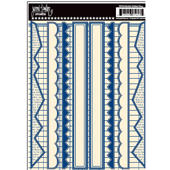 Jenni Bowlin Studio - Cardstock Stickers - Navy Border