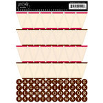 Jenni Bowlin Studio - Cardstock Stickers - Brown Banner