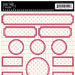Jenni Bowlin Studio - Cardstock Stickers - Polka Dotted Label - Black and Red, CLEARANCE