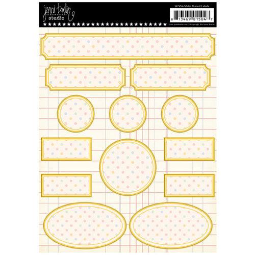 Jenni Bowlin Studio - Cardstock Stickers - Polka Dotted Label - Multi-colored