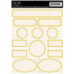 Jenni Bowlin Studio - Cardstock Stickers - Polka Dotted Label - Multi-colored