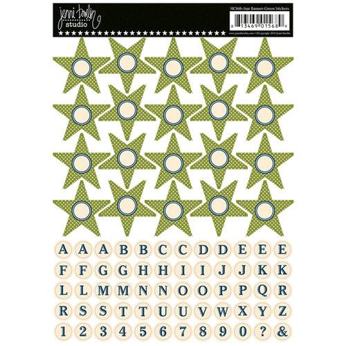 Jenni Bowlin Studio - Cardstock Stickers - Star Banner - Green