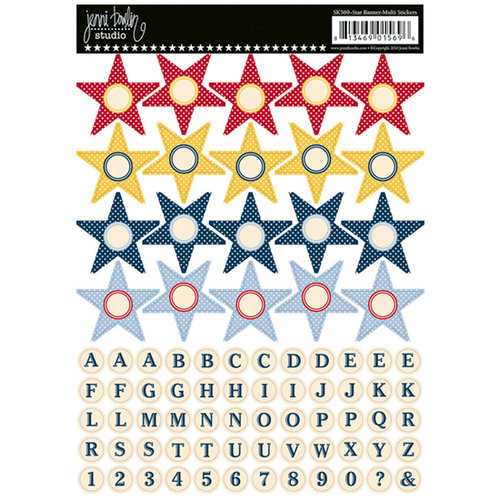 Jenni Bowlin Studio - Cardstock Stickers - Star Banner - Multi-colored