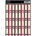 Jenni Bowlin Studio - Cardstock Stickers - Flag Banner - Red and Black