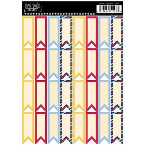 Jenni Bowlin Studio - Cardstock Stickers - Flag Banner - Multi-colored