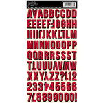 Jenni Bowlin - Cardstock Stickers - Shadow Alphabet - Red and Black
