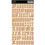 Jenni Bowlin - Cardstock Stickers - Shadow Alphabet - Green and Red