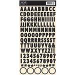 Jenni Bowlin Studio - Cardstock Stickers - Skinny Alphabet - Black
