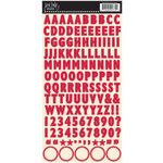 Jenni Bowlin Studio - Cardstock Stickers - Skinny Alphabet - Red