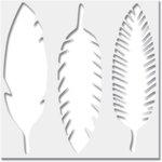 Jenni Bowlin Studio - 6 x 6 Stencil - Feathers