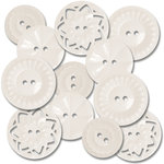 Jenni Bowlin Studio - Vintage Style Buttons - White, CLEARANCE