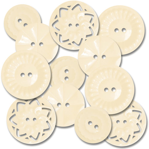 Jenni Bowlin Studio - Vintage Style Buttons - Cream