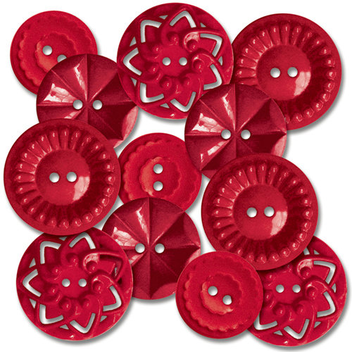 Jenni Bowlin Studio - Vintage Style Buttons - Red