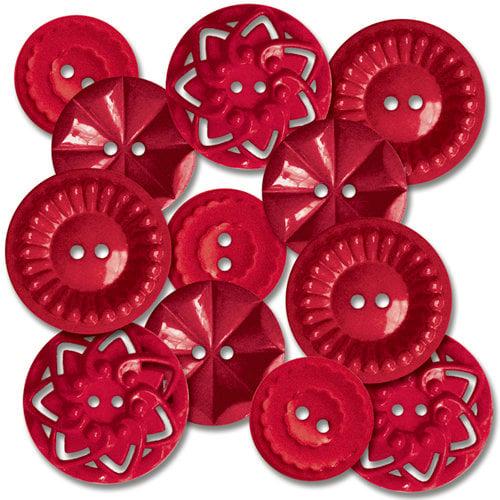 Jenni Bowlin Studio - Vintage Style Buttons - Red