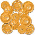 Jenni Bowlin Studio - Vintage Style Buttons - Orange, CLEARANCE