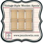 Jenni Bowlin Studio - Vintage Style Wooden Spools
