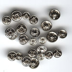 Junkitz - Tim Holtz - Metalz Snapz - Silver/Silver, CLEARANCE