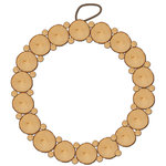 Jillibean Soup - Naturalist Collection - Raw Surfaces - Birch Wreath - 10 Inches
