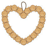 Jillibean Soup - Naturalist Collection - Raw Surfaces - Heart Wreath - 10 Inches