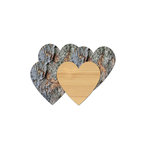 Jillibean Soup - Naturalist Collection - Raw Surfaces - Wood Heart - 4 Pack