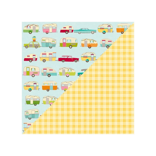 Jillibean Soup - Happy Camper Stew Collection - 12 x 12 Double Sided Paper - 1 Part Camping Gear