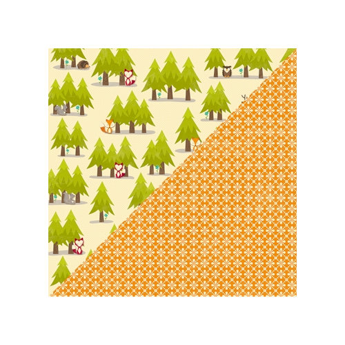Jillibean Soup - Happy Camper Stew Collection - 12 x 12 Double Sided Paper - 3 Parts Critters
