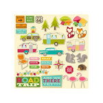 Jillibean Soup - Happy Camper Stew Collection - Pea Pod Parts - Die Cut Cardstock Pieces - Shapes