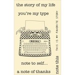 Jillibean Soup - Stampables - Clear Acrylic Stamps - Typewriter