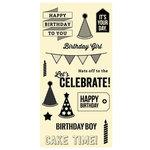 Jillibean Soup - Clear Acrylic Stamp Set - Large - Birthday