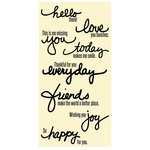Jillibean Soup - Clear Acrylic Stamp Set - Large - Handwritten Sentiments