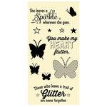 Jillibean Soup - Clear Acrylic Stamp Set - Large - Butterflies