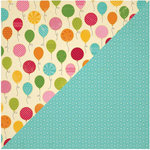 Jillibean Soup - Birthday Bisque Collection - 12 x 12 Double Sided Paper - Bunch of Balloons