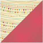 Jillibean Soup - Birthday Bisque Collection - 12 x 12 Double Sided Paper - Bowl of Bows