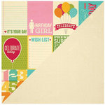 Jillibean Soup - Birthday Bisque Collection - 12 x 12 Double Sided Paper - Bite Size Bits