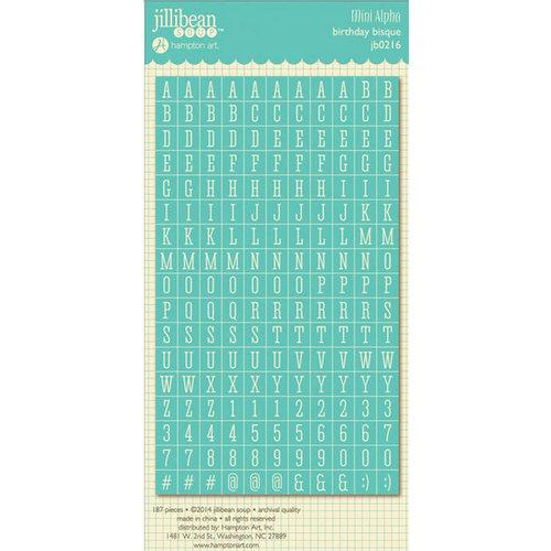 Jillibean Soup - Birthday Bisque Collection - Cardstock Stickers - Mini Alphabet
