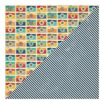 Jillibean Soup - Sightseeing Stew Collection - 12 x 12 Double Sided Paper - Blanched Bags