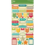 Jillibean Soup - Spicy Social Soup Collection - Cardstock Stickers - Shapes