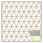 Jillibean Soup - Placemats - 12 x 12 Die Cut Paper - Kraft - Triangles