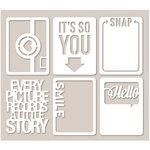Jillibean Soup - Mini Placemats - 3 x 4 Die Cut Cards - Smile