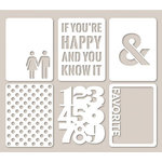 Jillibean Soup - Mini Placemats - 3 x 4 Die Cut Cards - Favorite