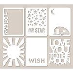 Jillibean Soup - Mini Placemats - 3 x 4 Die Cut Cards - Star Light, Star Bright